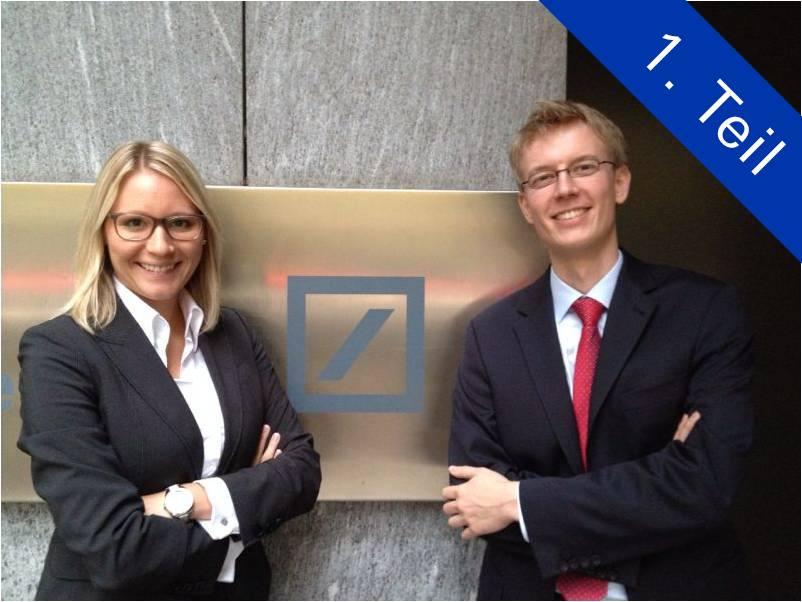 wie sind sie auf die deutsche bank aufmerksam geworden aus welchem grund haben sie sich im anschluss zu einer bewerbung entschlossen - Deutsche Bank Bewerbung