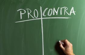 Pro und Contra Tafel, Vor- und Nachteile, abwiegen