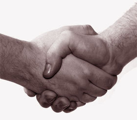 Handschlag, Handshake