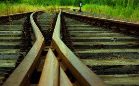 Karriereweg, Weiche, Schienen, überkreuzt