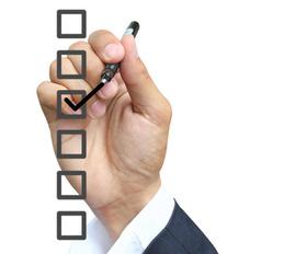 Akkreditierung, erledigt, abgehakt, Haken, Checkliste, Vetrag