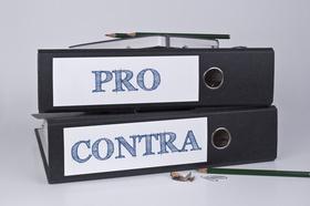 Pro und Contra, Vor- und Nachteile, abwiegen