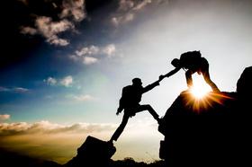 Gipfel, Gipfelstürmer, Team, Teamwork