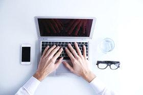 Manager, Hände, Computer