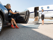Businessfrau, Frau, Flugzeug