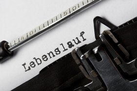 Schreibmaschine Lebenslauf, CV, Curriculum Vitae